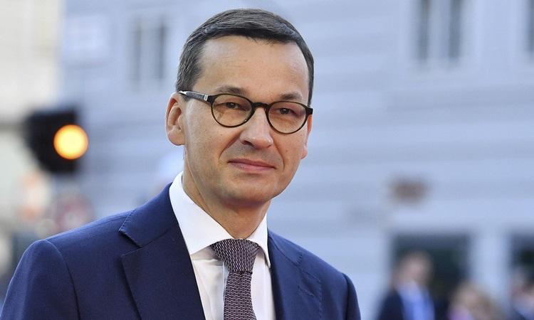 Thủ tướng Ba Lan Mateusz Morawiecki dự hội nghị thượng đỉnh EU ở Áo năm 2018. Ảnh: AP.