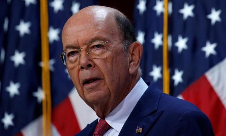 Bộ trưởng Thương mại Wilbur Ross phát biểu tại một hội nghị ở bang Maryland năm 2017. Ảnh: Reuters.