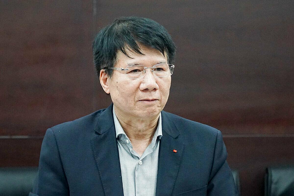 Thứ trưởng Bộ Y tế Trương Quốc Cường tại buổi làm việc. Ảnh: Nguyễn Đông.
