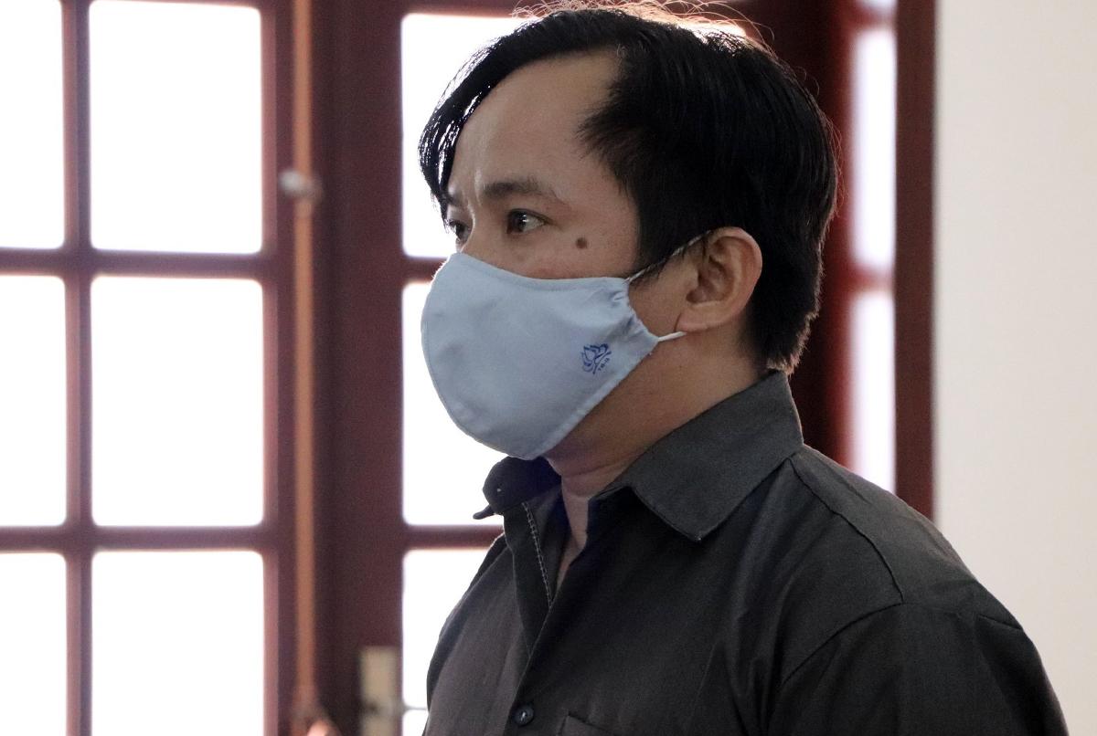Nguyễn Minh Dũng tại toà hôm nay. Ảnh: Dương Trang.