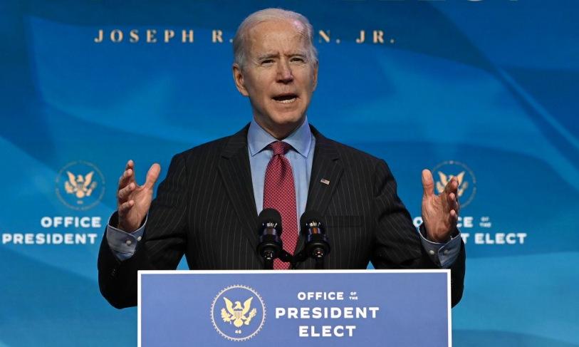 Biden trong một cuộc họp báo tại bang Delaware hôm 8/1. Ảnh: AFP.