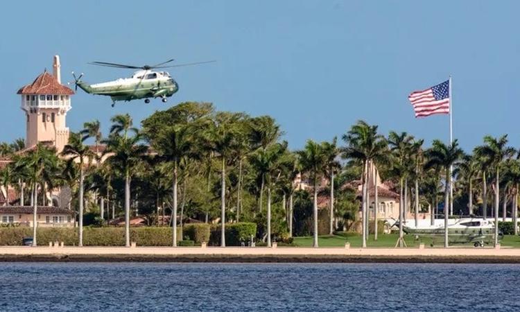 Khu nghỉ dưỡng Mar-a-Lago của Trump ở Palm Beach, Florida, năm 2019. Ảnh: Palm Beach Daily News.