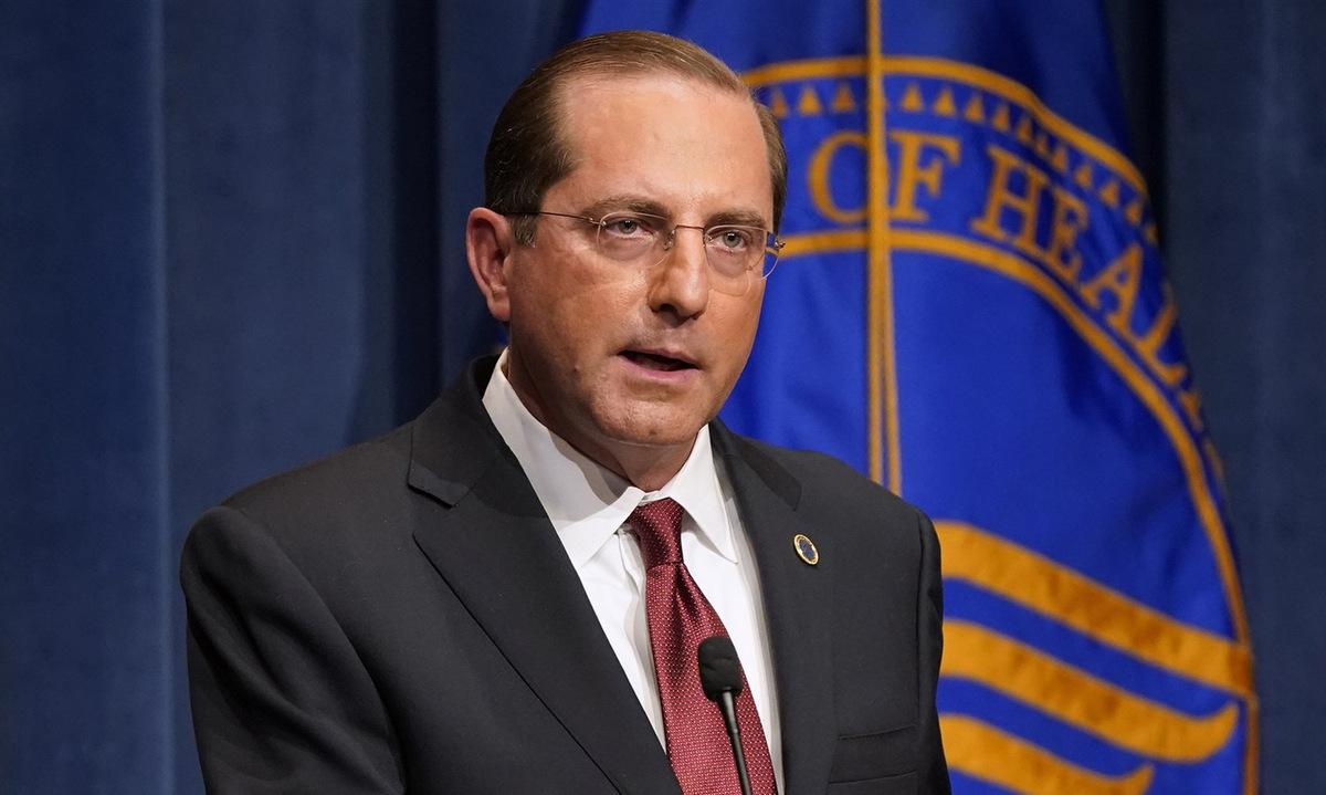 Bộ trưởng Azar họp báo tại thủ đô Washington hôm 12/1. Ảnh: AP.
