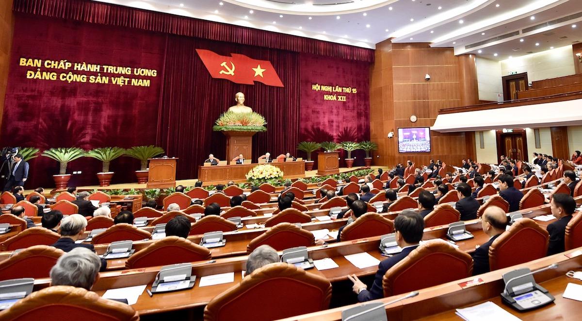 Hội nghị Trung ương 15 (khóa XII) diễn ra trong hai ngày 16 và 17/2 tại Hà Nội. Ảnh: Nhật Bắc