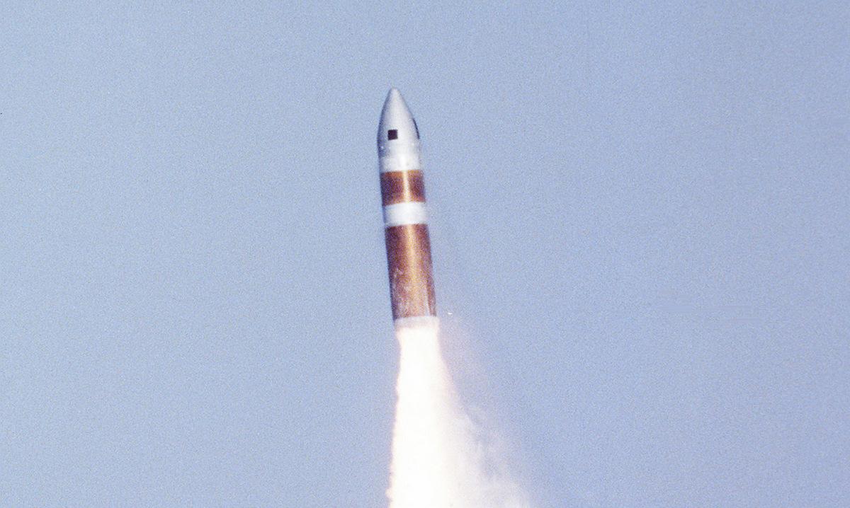 Tên lửa Poseidon Mỹ phóng thử năm 1979. Ảnh: US Navy.
