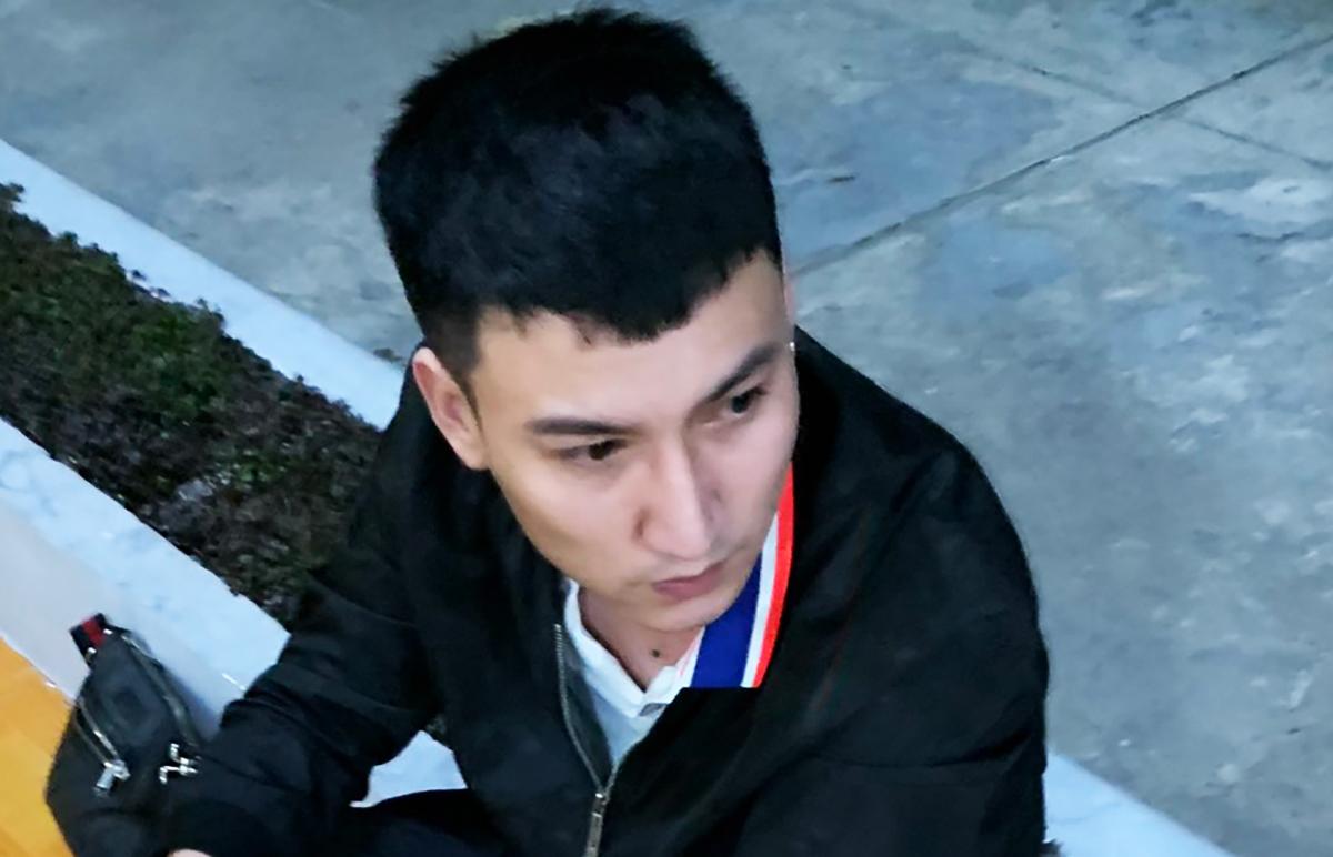 Ngô Xuân Quyền lúc bị bắt giữ tại Kiên Giang. Ảnh:Quang Bình.