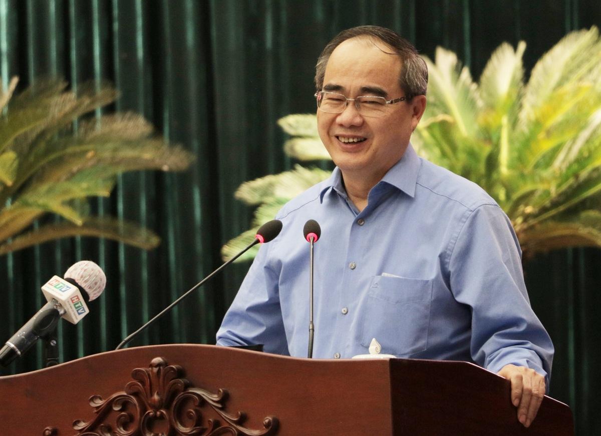 Ông Nguyễn Thiện Nhân nói về các hạ tầng cần có để TP Thủ Đức trở thành đô thị sáng tạo tương tác cao, chiều 19/1. Ảnh: Hà An.