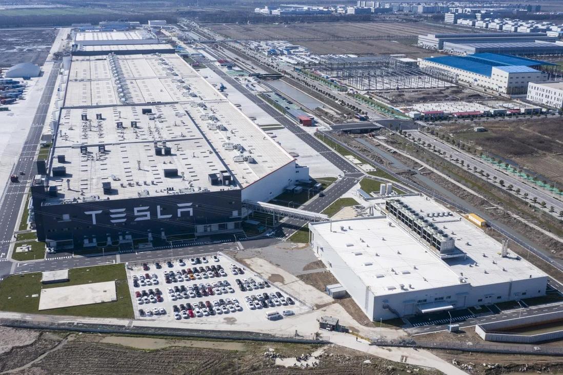 Nhà máy Gigafactory Thượng Hải, Trung Quốc. Ảnh: Bloomberg