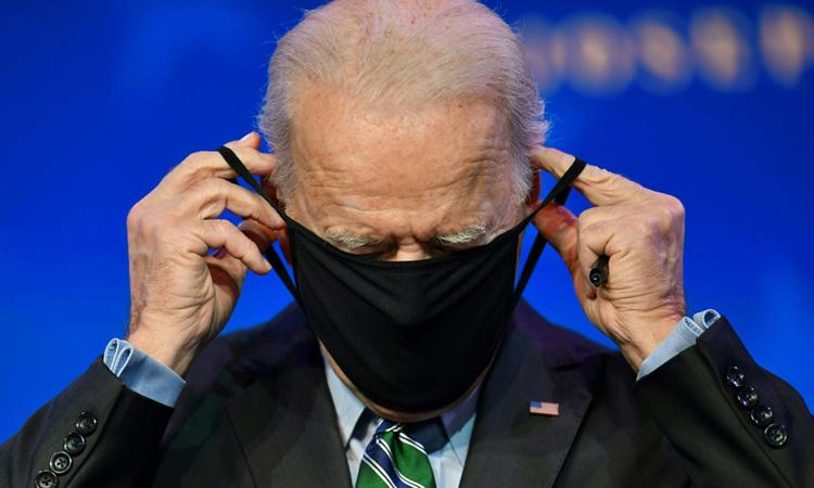Tổng thống đắc cử Mỹ Joe Biden giới thiệu ứng viên nội các tại nhà hát Queen, bang Delaware hôm 16/1. Ảnh: AFP.