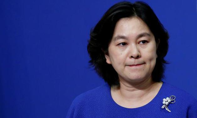 Phát ngôn viên Bộ Ngoại giao Trung Quốc Hoa Xuân Oánh trong cuộc họp báo tại Bắc Kinh hồi tháng 7/2020. Ảnh: Reuters.