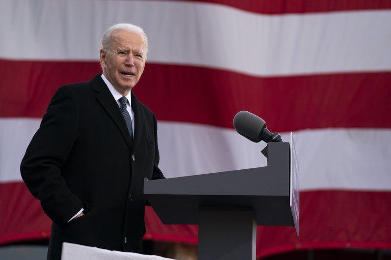 Joe Biden phát biểu chia tay tại New Castle, Delaware, hôm 19/1. Ảnh: AP.