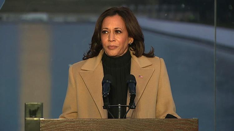 Phó tổng thống đắc cử Kamala Harris tại buổi lễ. Ảnh: CNN.
