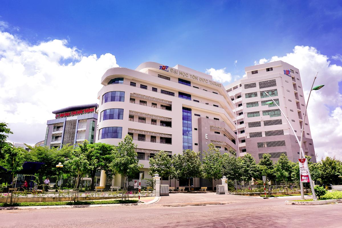 Đại học Tôn Đức Thắng, cơ sở chính tại quận 7, TP HCM. Ảnh: TDTU.