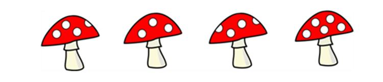 Bài toán lớp 1 về cây nấm và chú lùn