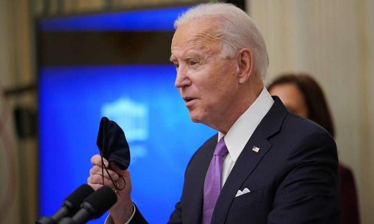 Tổng thống Mỹ Biden phát biểu tại Nhà Trắng hôm 21/1. Ảnh: AFP.