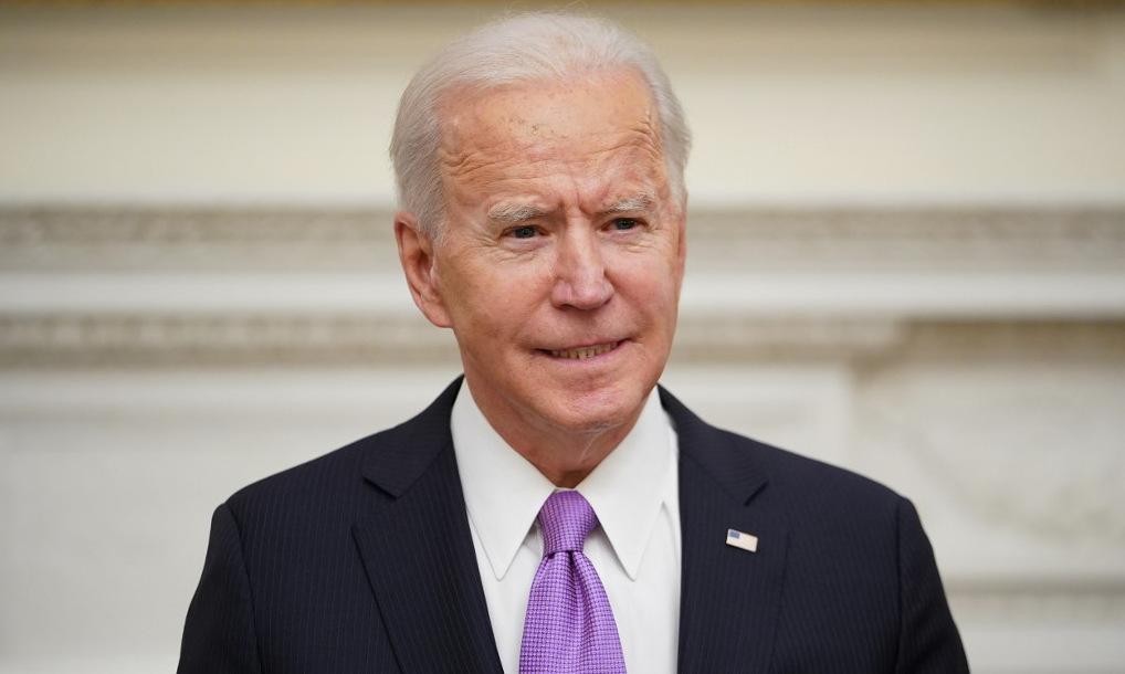 Biden họp báo tại Nhà Trắng hôm 21/1. Ảnh: AFP.