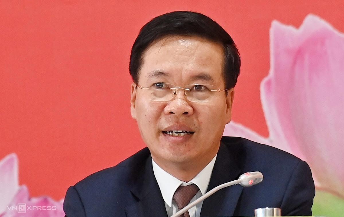 Ông Võ Văn Thưởng - Uỷ viên Bộ Chính trị, Bí thư Trung ương Đảng, Trưởng ban Tuyên giáo Trung ương. Ảnh: Giang Huy