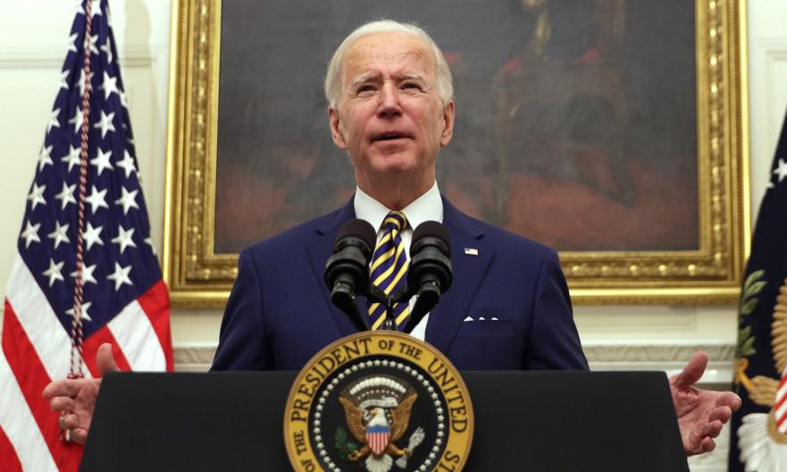 Tổng thống Mỹ Joe Biden phát biểu tại một sự kiện ở Nhà Trắng hôm 22/1. Ảnh: AFP.