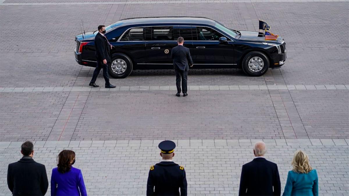 Quái thú xuất hiện trong lễ nhậm chức của Tổng thống Mỹ hôm 20/1. Ảnh: Marca