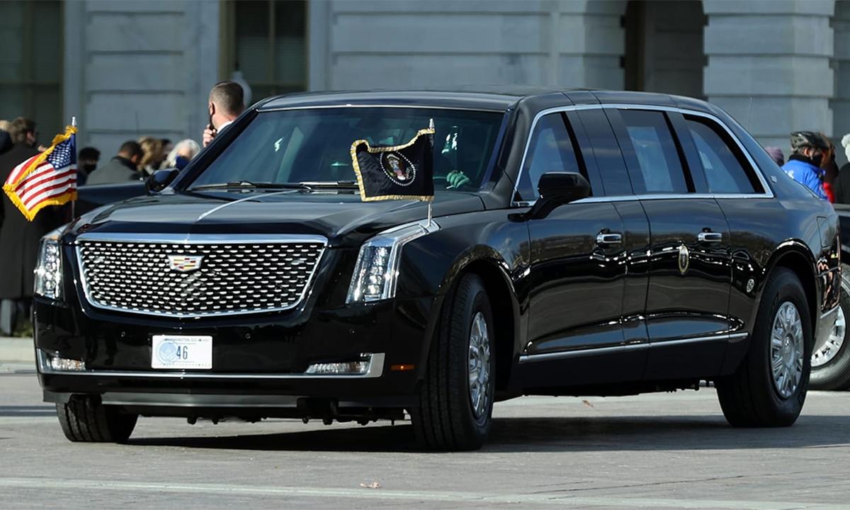 Chiếc Cadillac One đeo biển số 46. Ảnh: Gaadiwaadi
