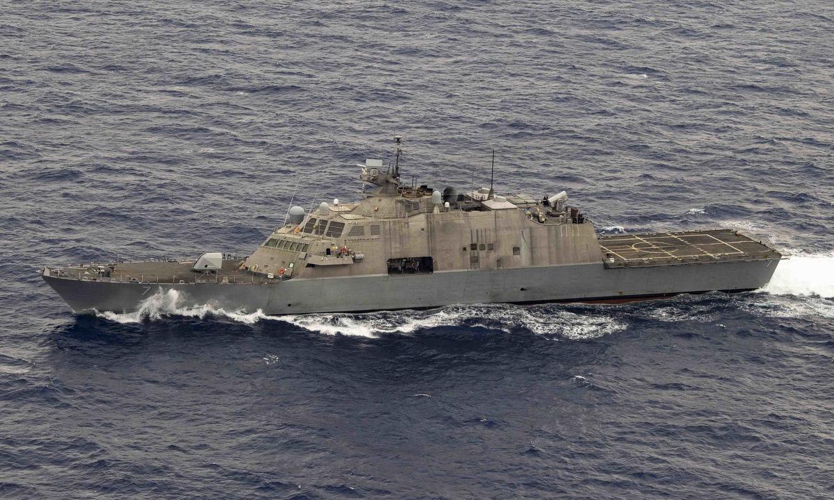 USS Detroit tuần tra gần khu vực Trung Mỹ hồi tháng 5/2020. Ảnh: US Navy.
