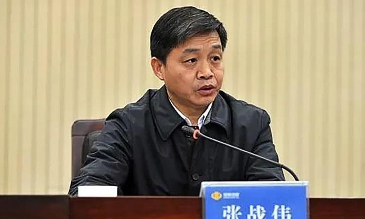 Zhang Zhanwei, bí thư thành ủy Tế Nguyên, tỉnh Hà Nam bị sa thải hôm 21/1. Ảnh: SCMP.