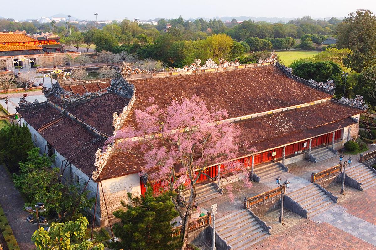 Công trình điện Thái Hòa nằm trong Hoàng cung Huế. Ảnh: Võ Thạnh