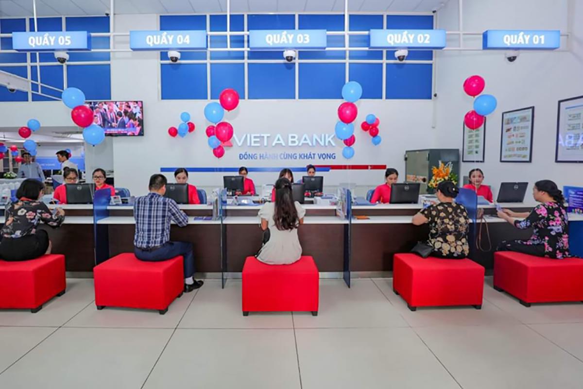 Một điểm giao dịch ngân hàng VietABank. Ảnh: VietABank.