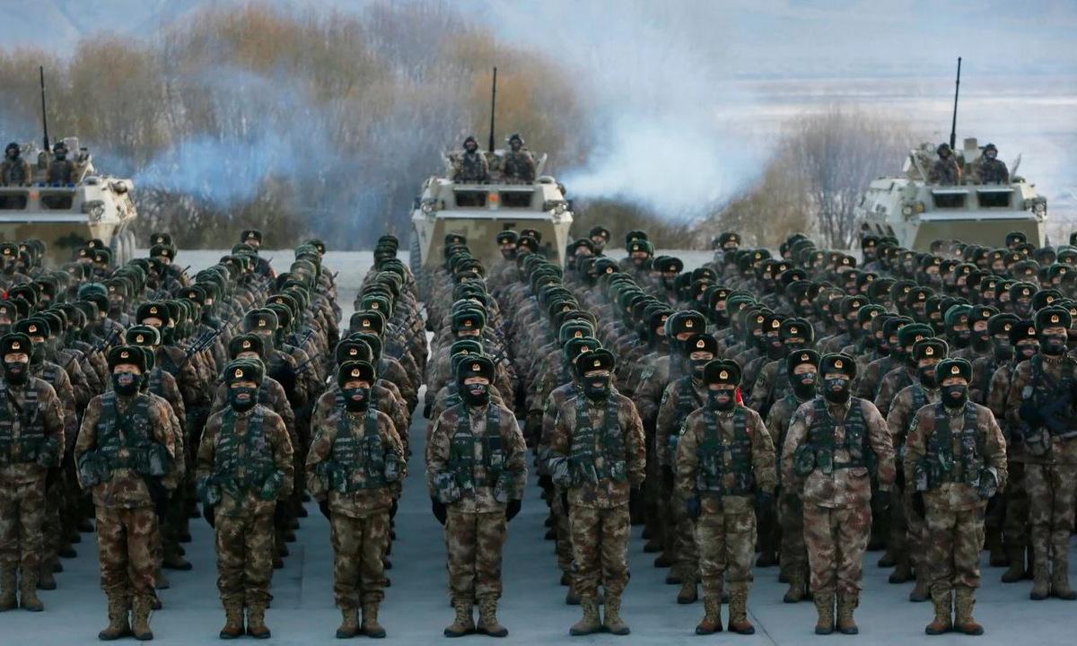 Binh sĩ Trung Quốc trong một cuộc diễn tập năm 2020. Ảnh: AFP.