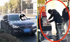 Lái xe BMW đến siêu thị trộm đồ