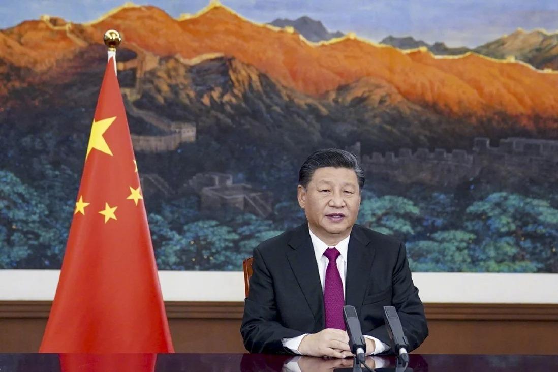 Chủ tịch Trung Quốc Tập Cận Bình phát biểu qua hội nghị video tại Diễn đàn Kinh tế Thế giới 2021. Ảnh: Xinhua