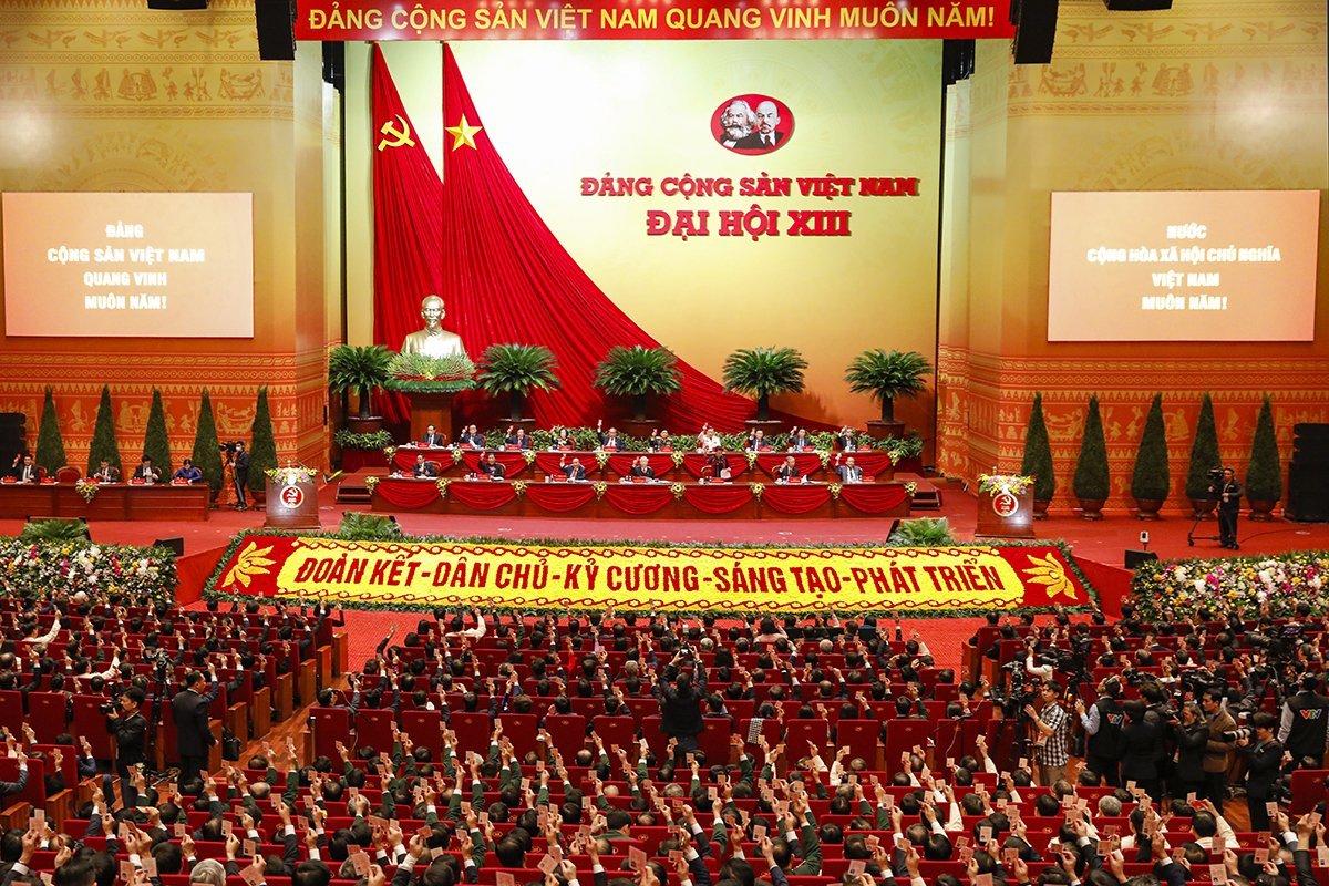 Toàn cảnh phiên trù bị Đại hội XIII, sáng 25/1. Ảnh: Giang Huy