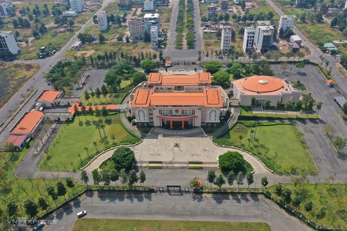 Trụ sở UBND quận 2 - nơi sẽ làm trụ sở của UBND TP Thủ Đức, ngày 26/1. Ảnh: Quỳnh Trần.