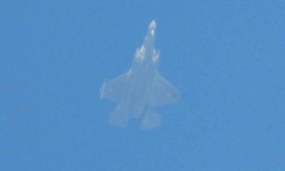 Tiêm kích F-35I Israel trên bầu trời Lebanon hôm 25/1. Ảnh: Al-Manar.