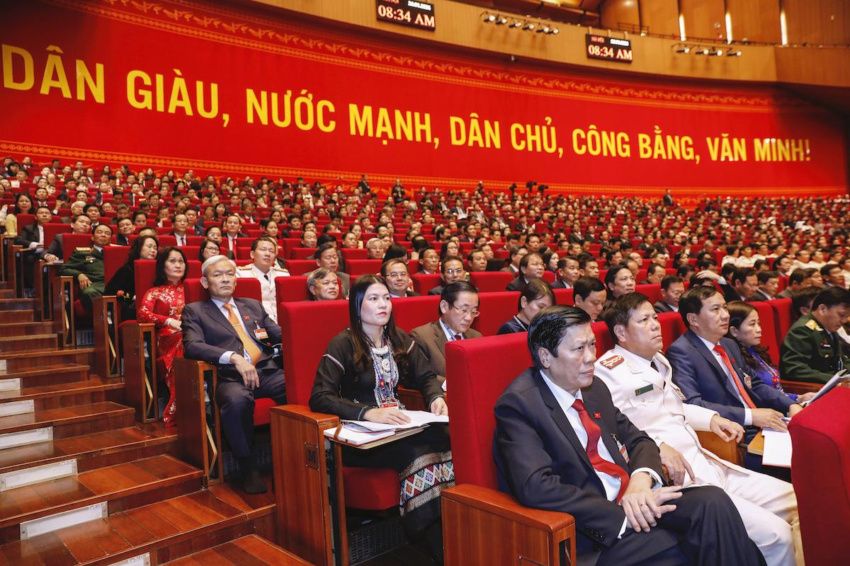 Các đại biểu dự Đại hội XIII tại phiên khai mạc. Ảnh: Giang Huy