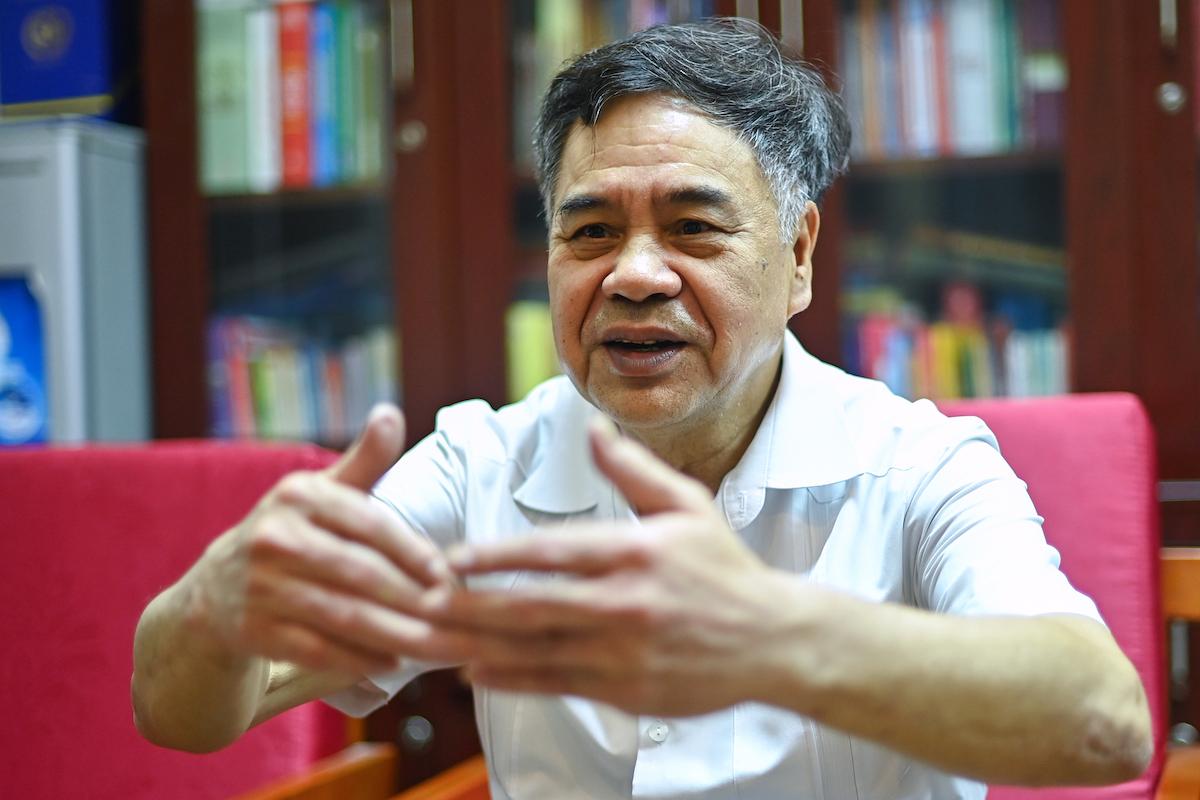 PGS.TS Nguyễn Viết Thông, Tổng thư ký Hội đồng Lý luận Trung ương. Ảnh: Hoàng Thùy