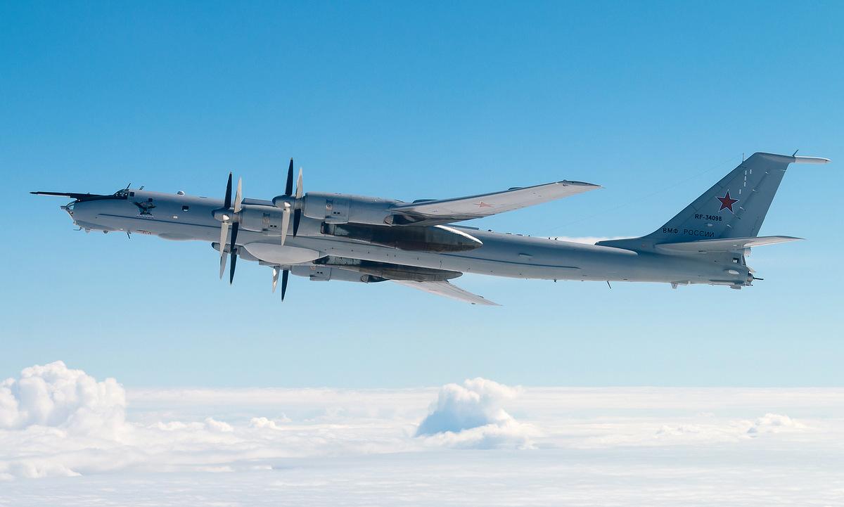 Máy bay Tu-142MZ Nga trong một chuyến bay năm 2020. Ảnh: Russian Planes.