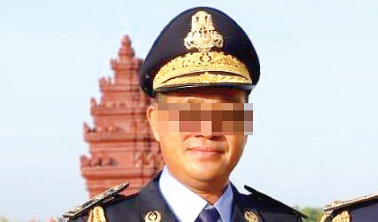 Chuẩn tướng Hin Sok Kheng, phó cảnh sát trưởng tỉnh Takeo. Ảnh: Khmer Times.