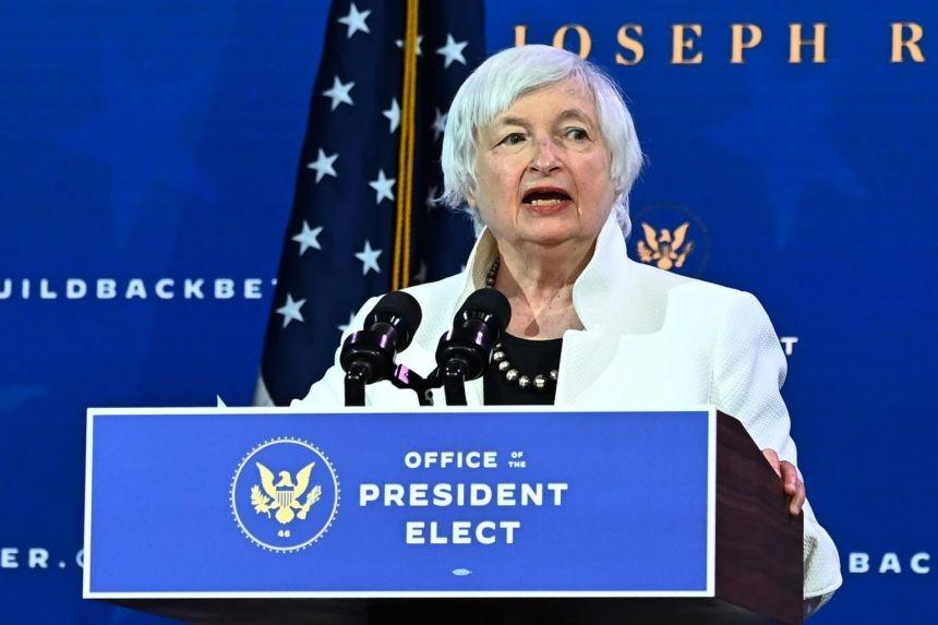 Bà Janet Yellen trong buổi giới thiệu đề cử nội các của Joe Biden hồi đầu tháng 1. Ảnh: Reuters