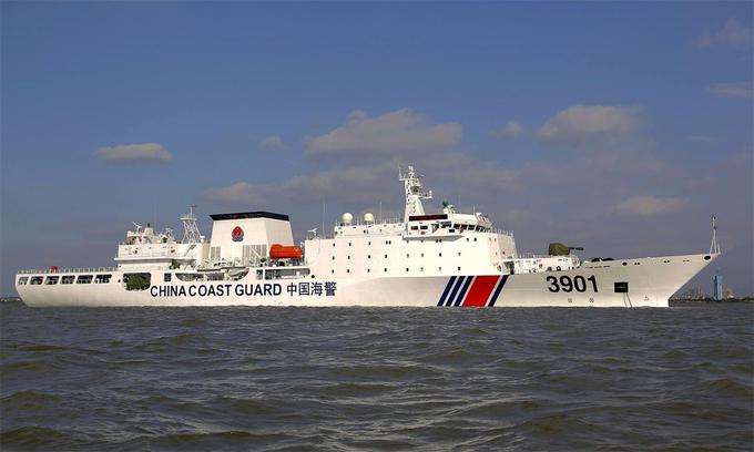 Tàu tuần tra lớn nhất thế giới Hải cảnh 3901 của Trung Quốc. Ảnh: CGC.