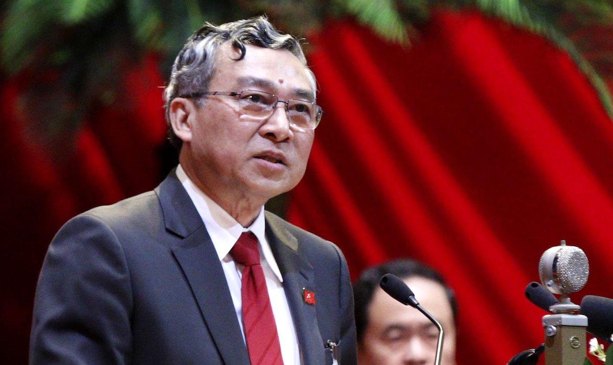Phó chủ nhiệm Ủy ban Kiểm tra Trung ương Mai Trực phát biểu tại Đại hội Đảng XIII chiều 27/1. Ảnh: Hoàng Phong