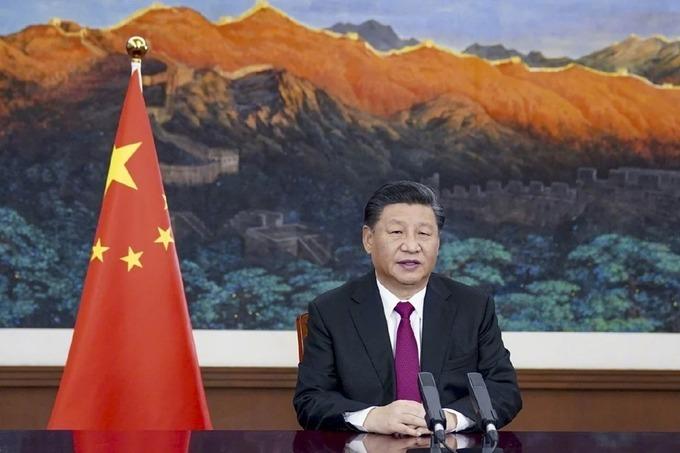 Chủ tịch Tập Cận Bình phát biểu qua hội nghị video tại Diễn đàn Kinh tế Thế giới 2021. Ảnh: Xinhua.