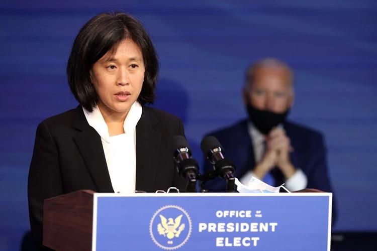 Đại diện Thương mại Mỹ Katherine Tai. Ảnh: Reuters.