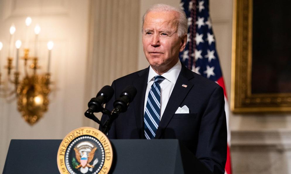 Tổng thống Mỹ Joe Biden phát biểu tại Nhà Trắng hôm 27/1. Ảnh: AFP.