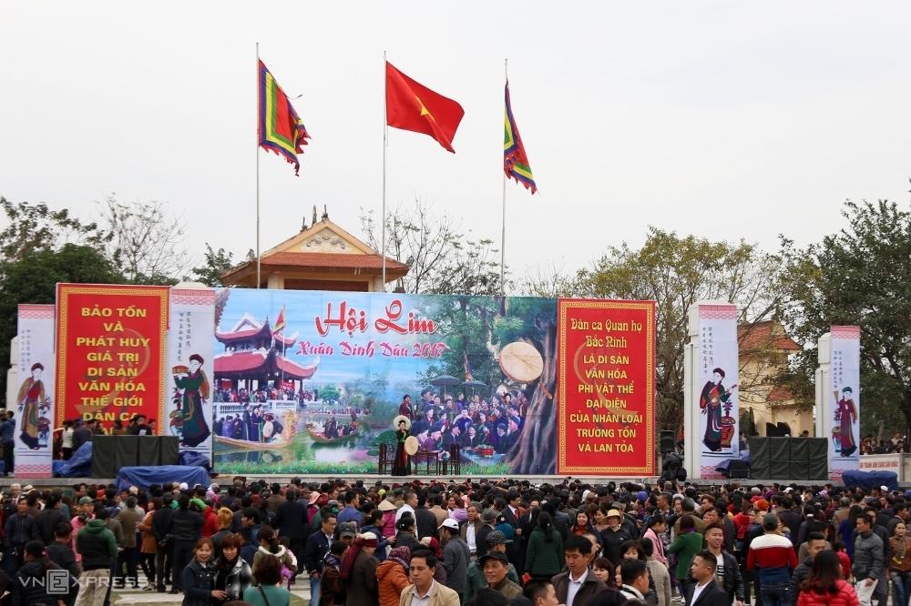 Lễ hội Kim tại huyện Tiên Du, tỉnh Bắc Ninh năm 2017. Ảnh: Gia Chính