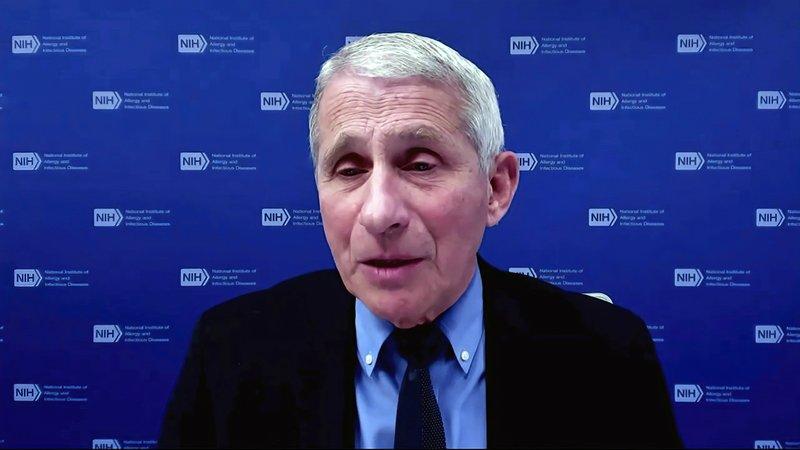 Tiến sĩ Anthony Fauci phát biểu trong cuộc họp của Nhà Trắng về Covid-19 hôm 27/1. Ảnh: AP.