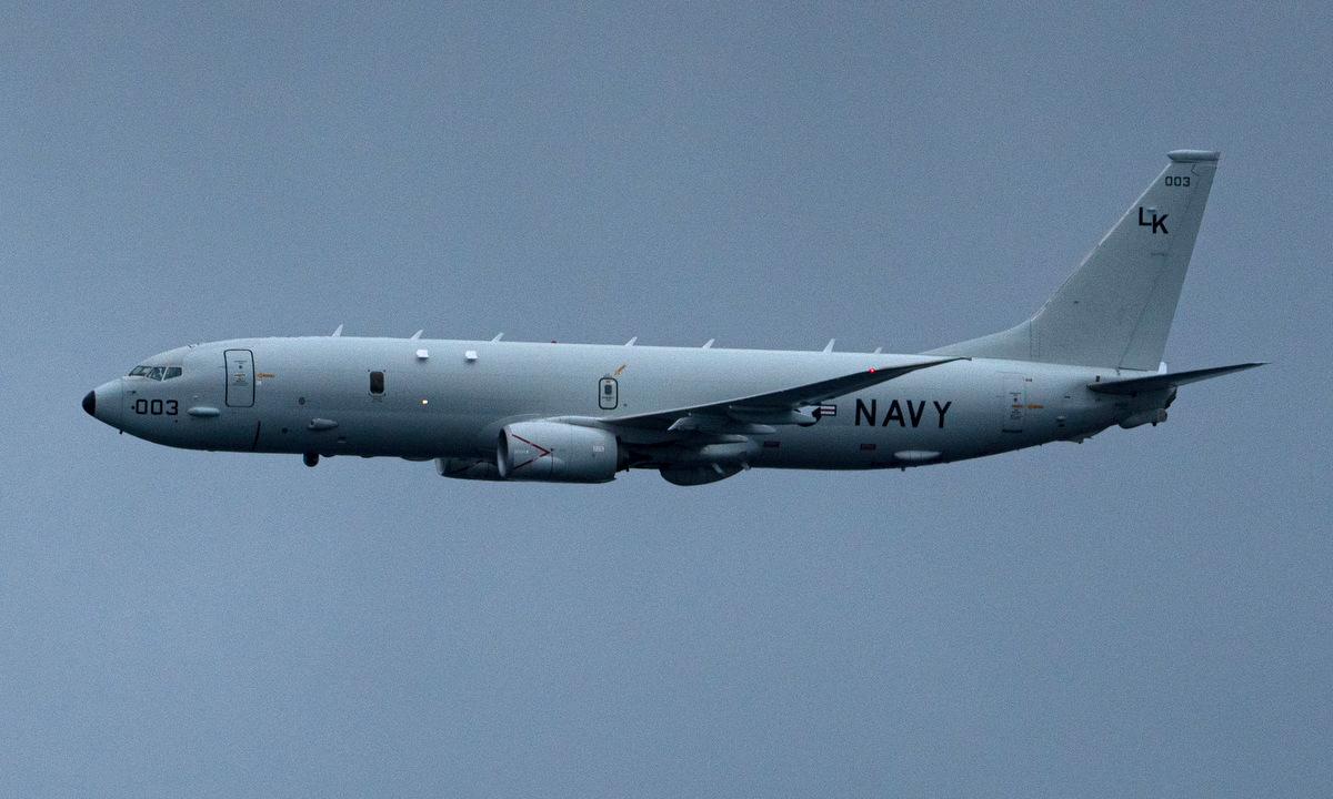 Trinh sát cơ P-8A Mỹ hoạt động trên Thái Bình Dương hồi tháng 6/2020. Ảnh: US Navy.