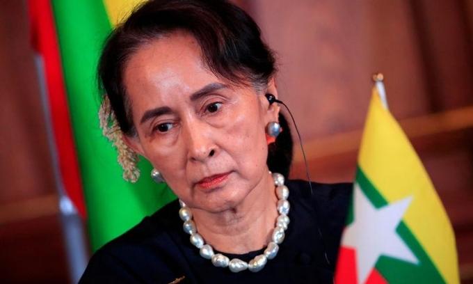 Cố vấn Nhà nước Myanmar Aung San Suu Kyi tại một sự kiện ở Tokyo, Nhật Bản, hồi tháng 10/2018. Ảnh: Reuters.
