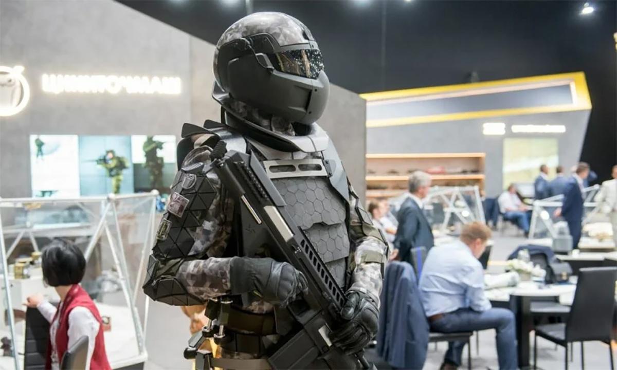 Mô hình bộ trang bị chiến đấu Sotnik của Nga. Ảnh: Rostec.