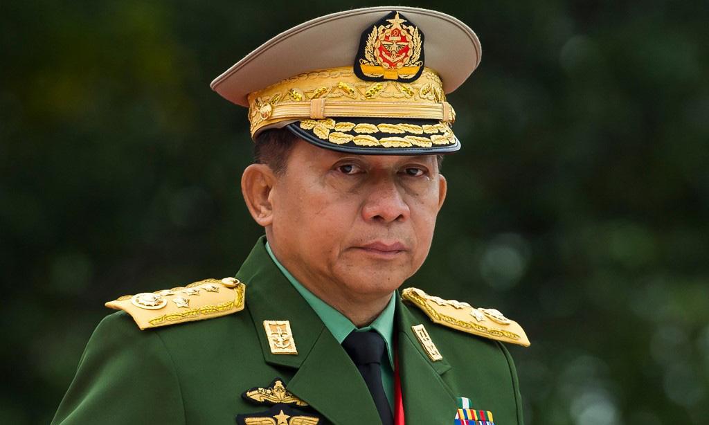 Thống tướng Min Aung Hlaing, tổng tư lệnh các lực lượng vũ trang Myanmar, tại một sự kiện ở Yangon hồi tháng 7/2018. Ảnh: AFP.